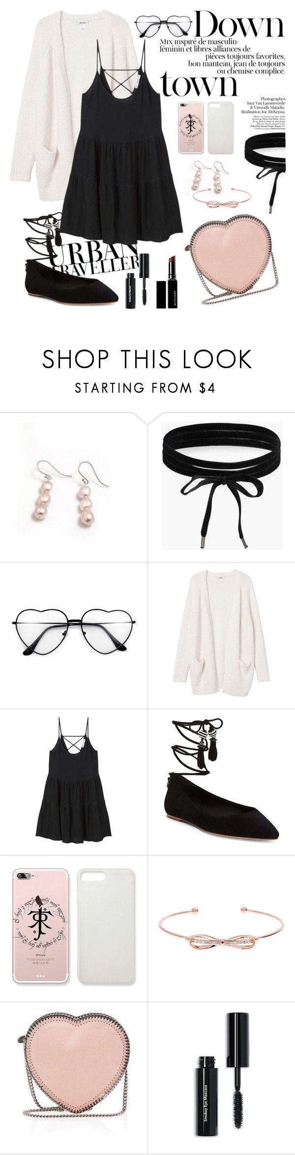 """Little black Dress"" by leanatsumi ❤ liked on Polyvore featuring Hiho Silver, Boohoo, Monki, MANGO, B Brian Atwood, Ted Baker, STELLA McCARTNEY, Bobbi Brown Cosmetics and Witchery"