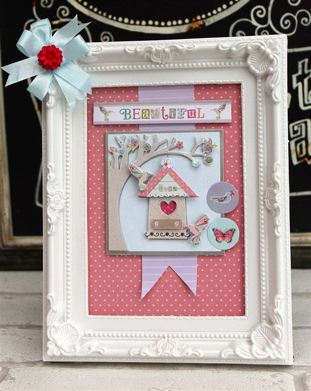 Katie used the Papermania Bellissima collection to make this framed picture.