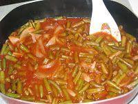The Iraqi Family Cookbook: Green Beans-Fasulia bil Zeit فاصوليا خضرة نباتية