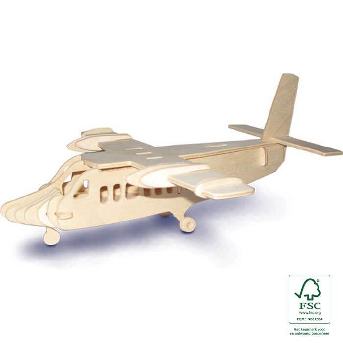 3D puzzels houten oorlogsvliegtuig