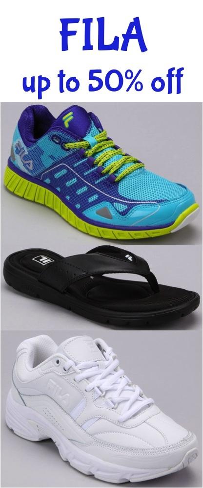 fila shoes 50% off photo walgreens coupon code