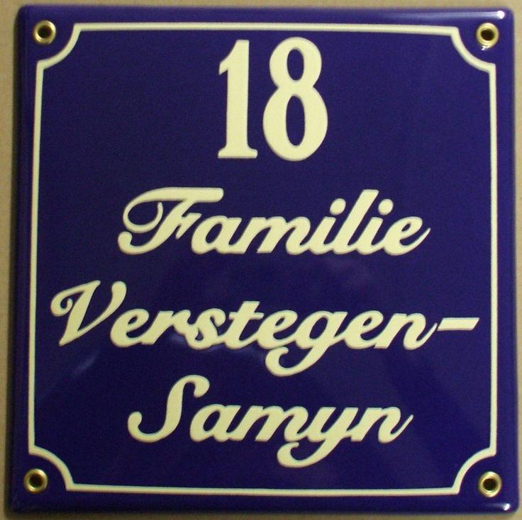 Emaille naambord vierkant 20 x 20cm cm op www.homi.nl