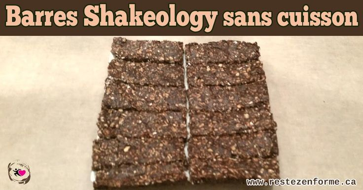 Barres de shakeology sans cuisson