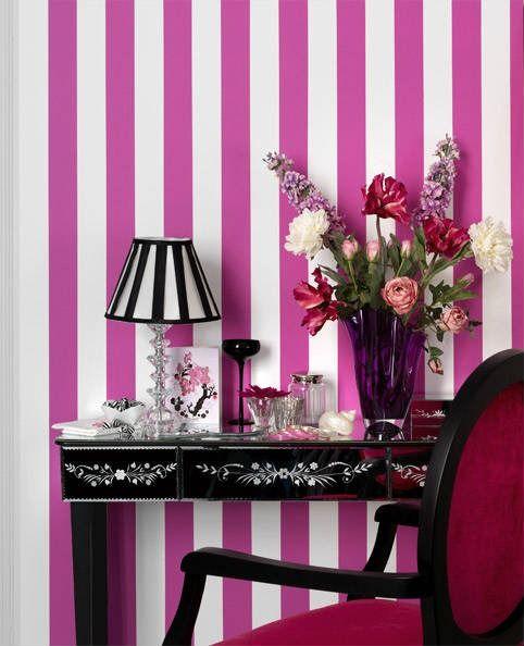 M s de 25 ideas fant sticas sobre paredes a rayas - Papeles pintados rayas verticales ...