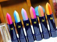 Hot 1 unids 2 colores mezclar un gradiente de arco iris de maquillaje hidratante de labios lapiz de labios #53823