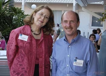 Laura Flesch & Florida Sister Cities State Coordinator David Schmidt at the Florida Sister Cities State Conference at the Helmsley Sandcastle on Lido Key in Sarasota in 2005