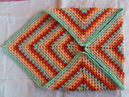 Granny Square Pillow cover. Simple easy idea
