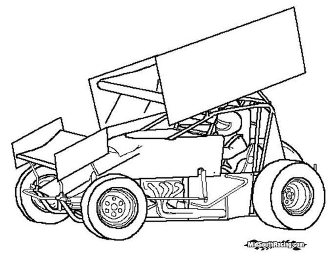 sprint car drawing | Sprint Car | Sprint cars | Pinterest ...