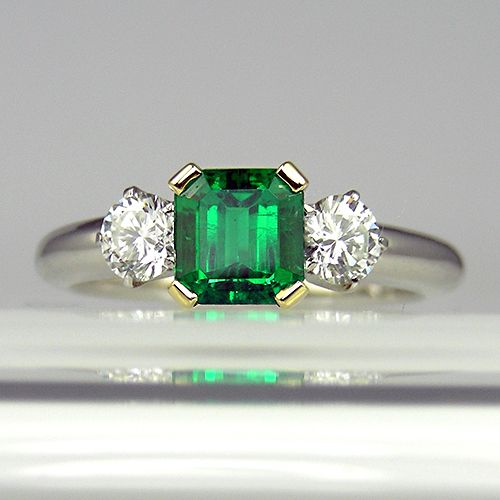 I <3 this Columbian emerald and diamond ring... on the middle finger of my right hand!