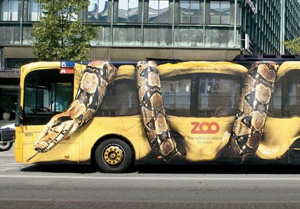 Copenhagen Zoo Bus Wrap ❯❯ See more at www.CreativeGuerrillaMarketing.com ❮❮