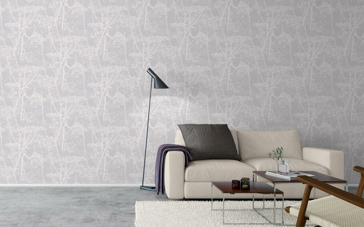 Bedroom Wallpaper - Cow Parsley Contemporary Restyled range