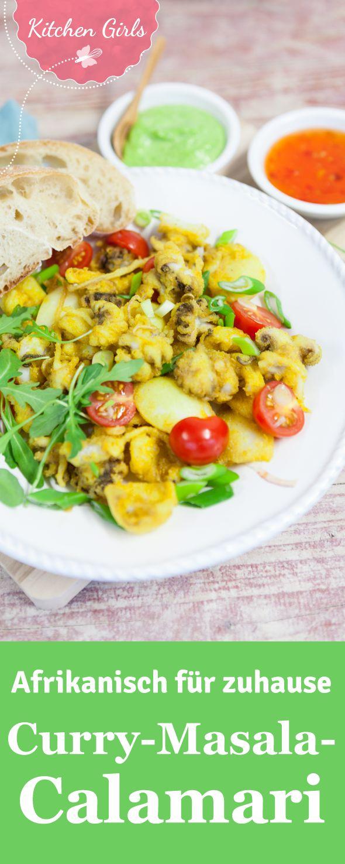 Ein Rezept aus einem der beliebtesten Restaurants in Südafrika: Rezept für Curry-Masala-Calamari mit Kräuter-Mayonnaise