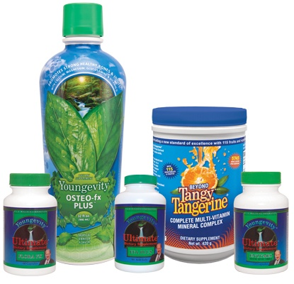 This pack is specIfically designed to support and promote healthy digestion. Each pack provides broad spectrum foundation nutrition including Beyond Tangy Tangerine® - 420g canister (1), EFA PLUS™- 90 capsules (1), Osteo Fx Plus™ - 32 oz (1), Ultimate Enzymes (1) and Ultimare Flora fx (1)*  Take your health back @Youngevity Essential Life Sciences