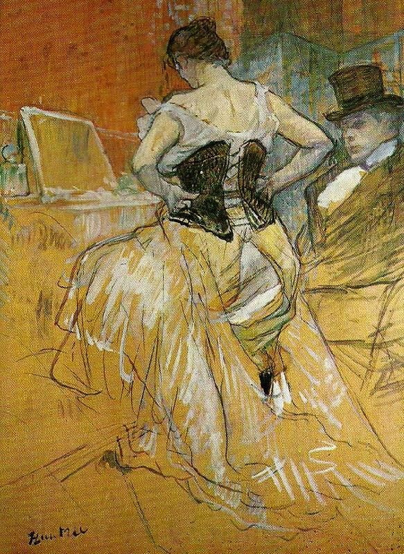 """Learning to love your Venus Fold"" From a painting by Toulouse Lautrec, showing that even the stars of the Moulin Rouge had back cleavage."