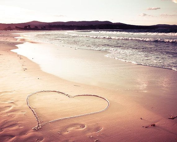 Strand Dekor nautische Herz print Strand von mylittlepixels auf Etsy
