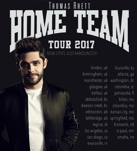 Sold out HOME TEAM Tour 2017 extended - new cities announced! | Thomas Rhett
