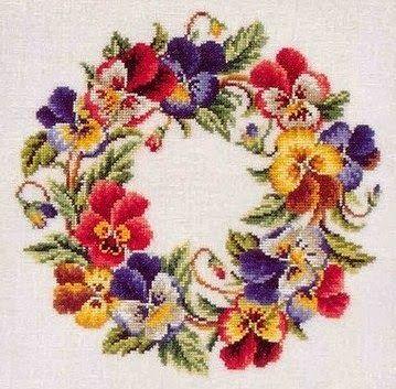 Victoria - Handmade Creations: Καλωσόρισμα στον Μάιο με κεντημένο στεφάνι