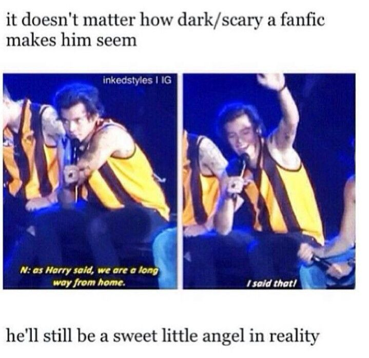 Fanfics make harry seem like the dark one but his personality is completely different