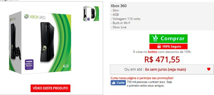 Xbox 360 4Gb Slim >