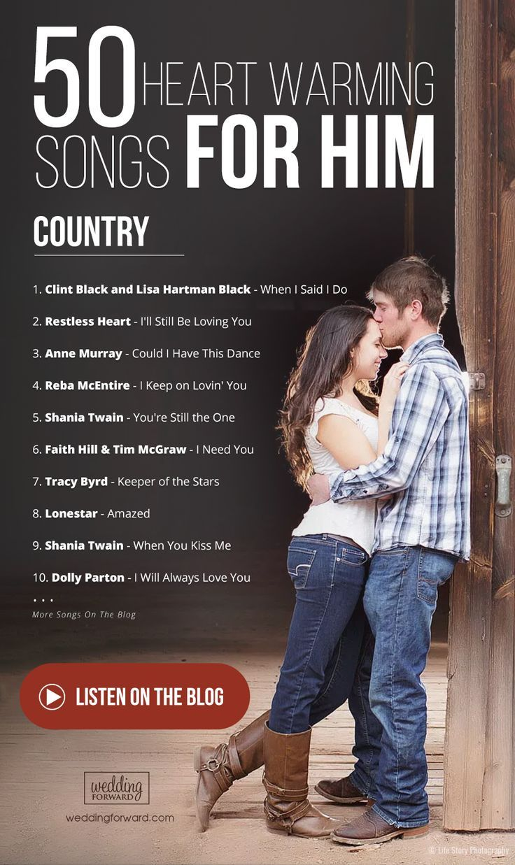 80 Heart Warming Love Songs For Him For 2020 2021 Love Songs For Him Love Songs Playlist Country Wedding Songs