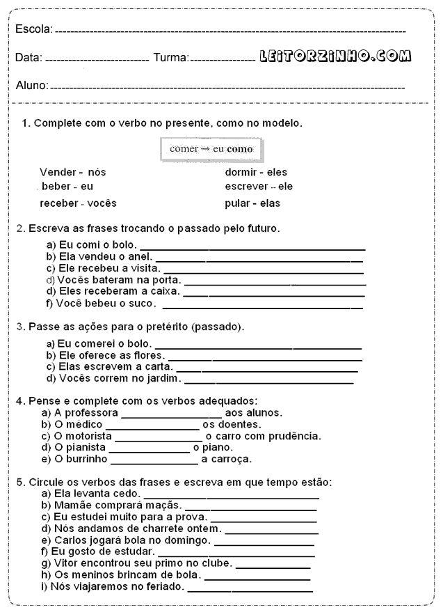 Portugues+quarto+ano+verbos.png (637×876)