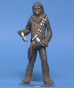 this is the star wars power of the jedi mechanic chewbacca he come with goggles and a welding tool he's perfect for your hoth or millenium falcon set up