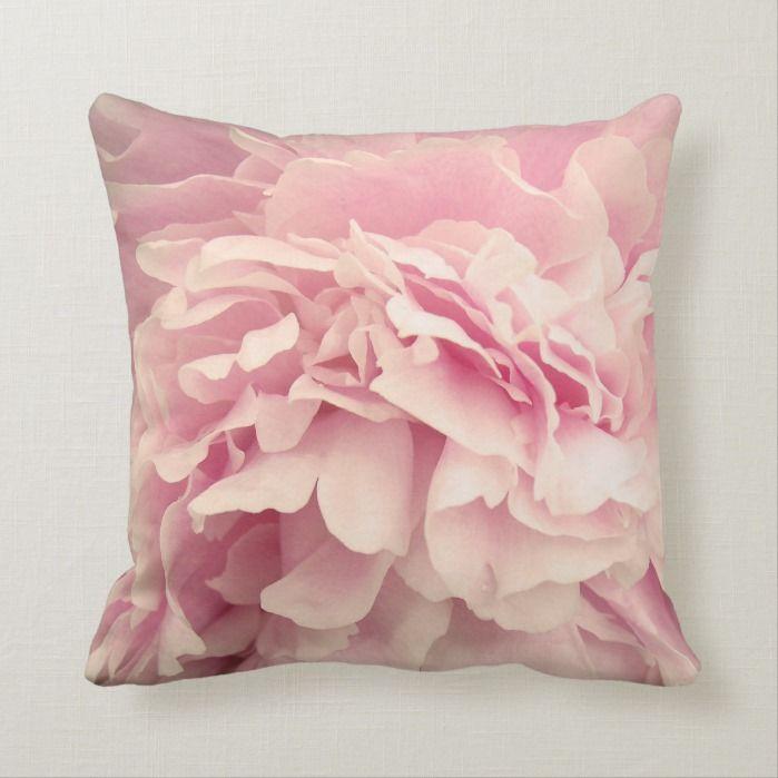 Pink Peony Petals Throw Pillow Zazzle Com In 2020 Pink Peonies Throw Pillows Petal Floral