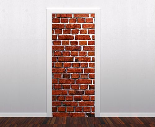 Best Doors Images On Pinterest Door Stickers Doors And Vinyls - Vinyl wall decals brick