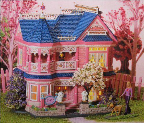 Dept 56 Barbie Dream House. Department 56 BARBIE Porcelain DREAM HOUSE with Lights.
