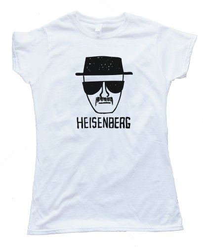 BREAKING BAD HEISENBERG DRAWING - design silscreened onto a Gildan  Softstyle white tee shirt for wowomen