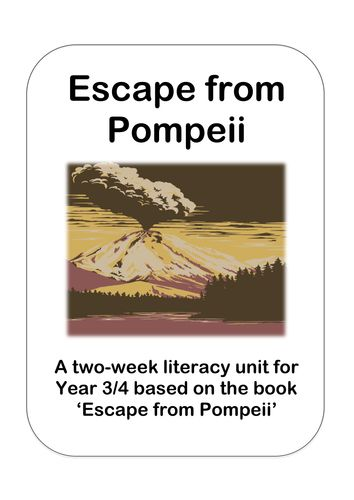 'Escape from Pompeii' Literacy Planning Pack