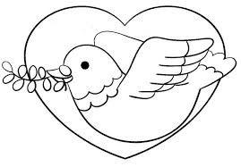 palomas de la paz colorear - Buscar con Google