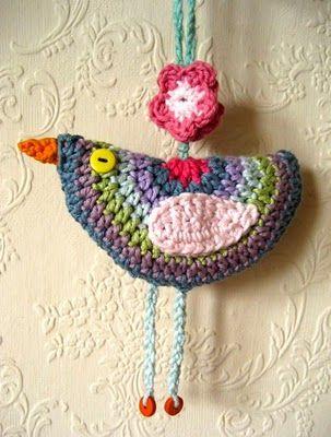 Hanging Birdie Decoration - Crochet How To
