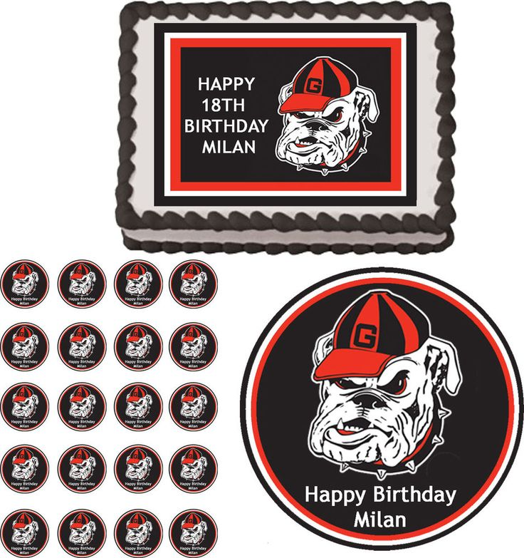College Football Edible Cake Decorations