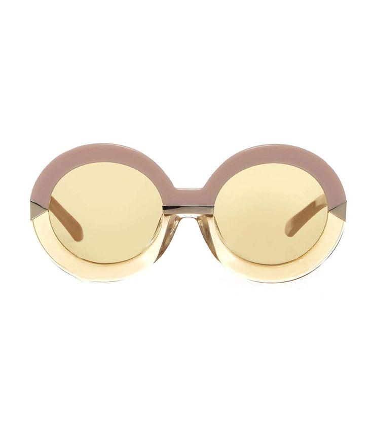 Karen Walker Woman Hollywood Pool Round-frame Acetate Glasses Brown Size ONESIZE Karen Walker WZtl6gU