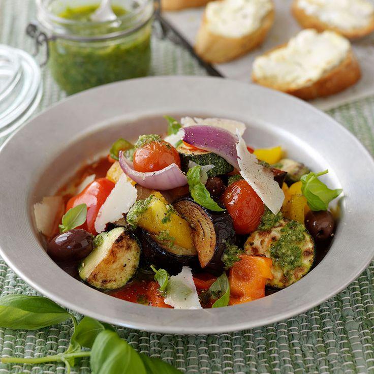 Ratatouille på ugnsbakade grönsaker