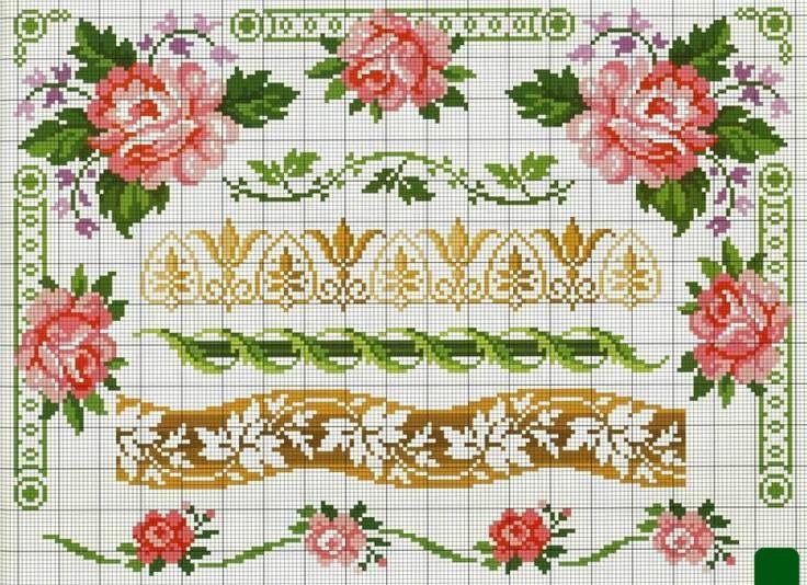 вышивка крестом орнамент схемы - Поиск в Google