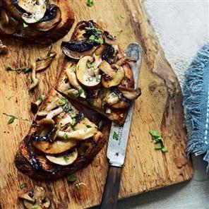 Garlic mushrooms on toast Recipe   delicious. Magazine free recipes