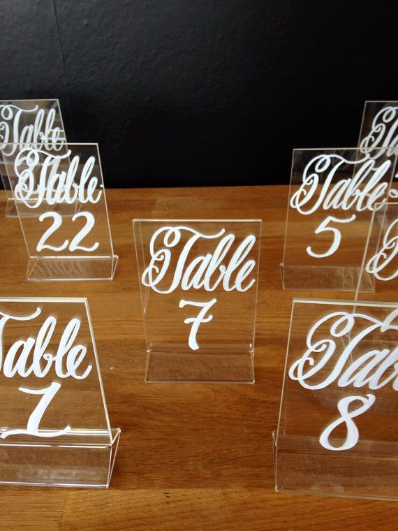 These table numbers are the perfect blend of elegance and modern style! This creative table number will accent your table, yet not overwhelm your