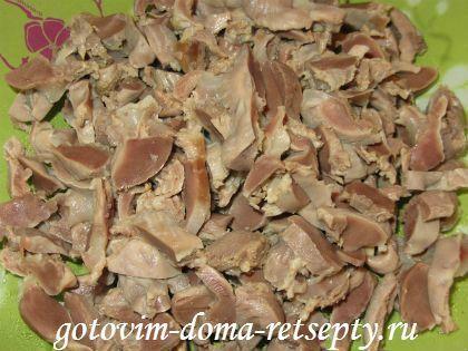 Куриные желудки, рецепт в сметане