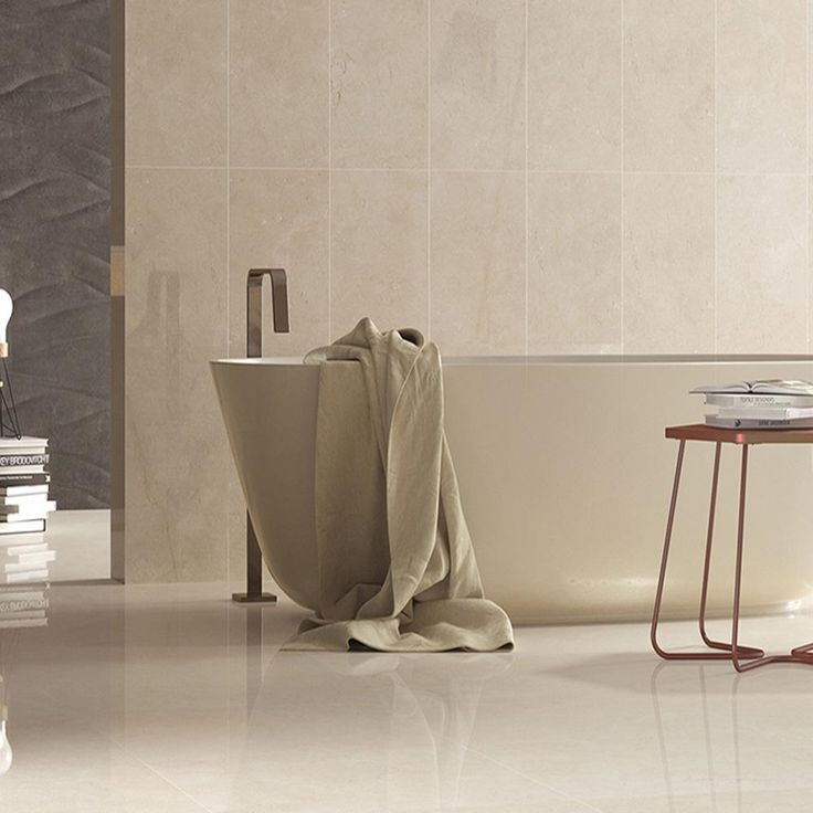 Tile Haven - Crystal Cream 75x75 'Crystal Cream' is a marble effect  porcelain floor tile that will work perfectly in a bathroom or hall.