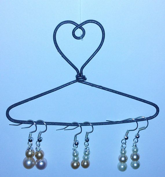 Cream & Peach glass pearl earrings ombre by LiquoriceWings on Etsy