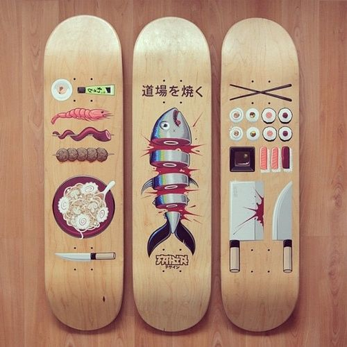— thedailyboard: Hungry ? It's time for sushi skate...