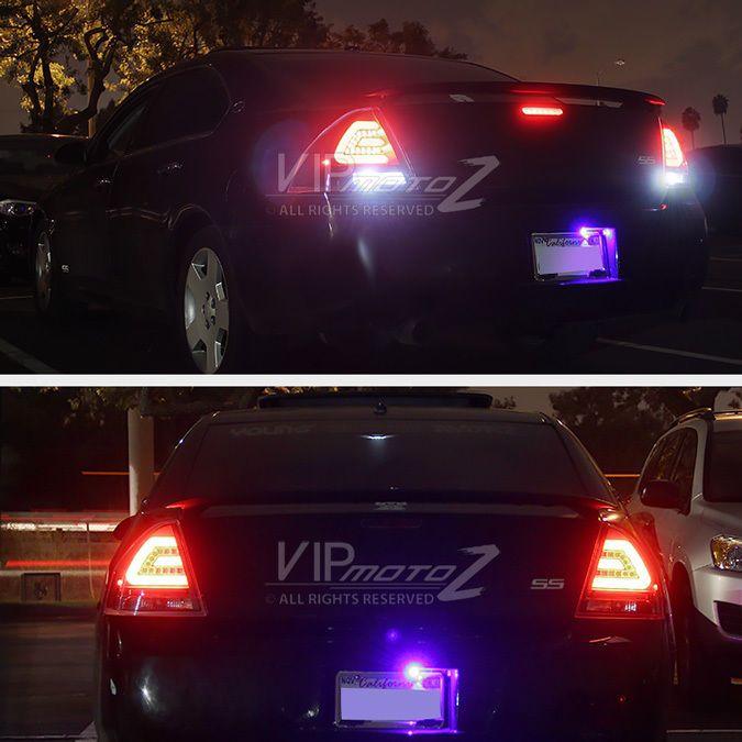 "2006-2013 Chevy Impala SS ""NEWEST FIBER OPTIC"" LED Black Tail Lights Brake Lamps #VIPMOTOZ"