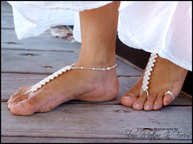Barefoot sandals (foot jewelry), great for beach weddings