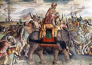 The Carthaginian War: In the Carthaginian War Hannibal actually used elephants to attack Rome