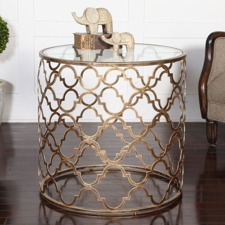 Uttermost Quatrefoil End Table - 25016