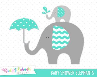 Yellow And Gray Elephant Clip Art Baby Elephant By