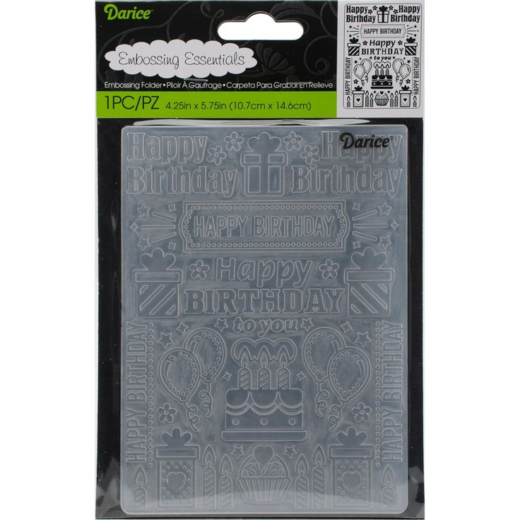 "Darice Embossing Folder 4.25""X5.75""-Birthday Collage - birthday collage"