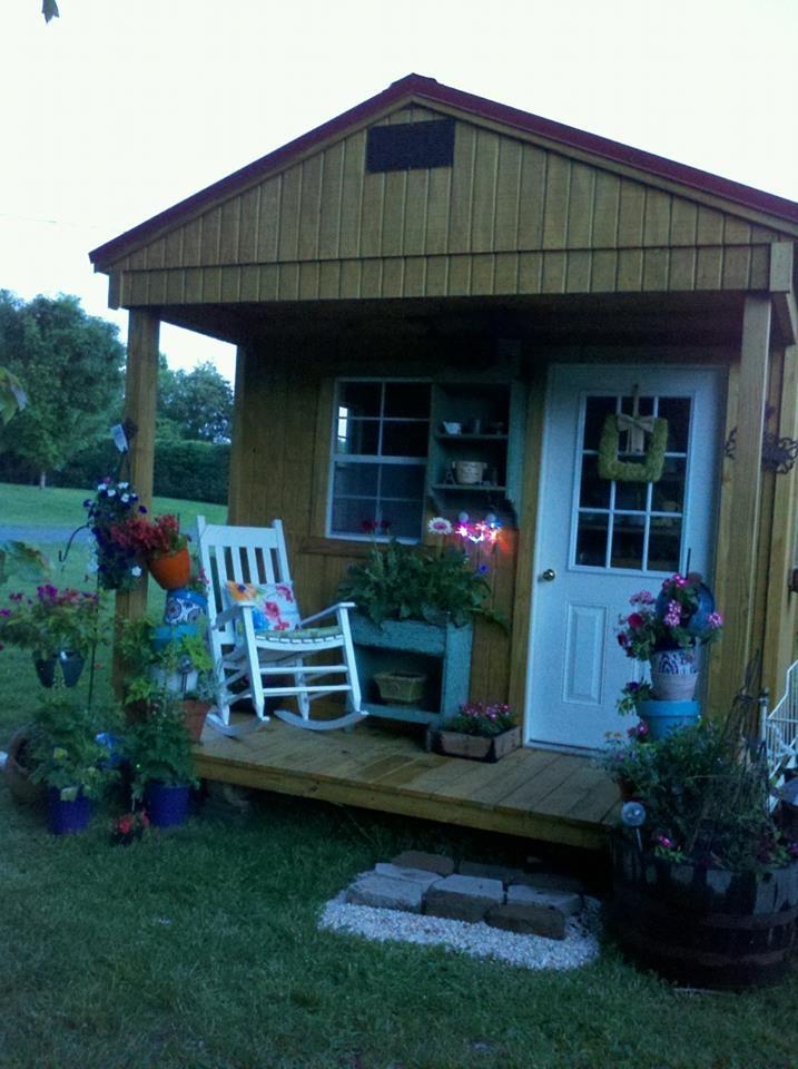 Emmies Shabby Chic Potting Shed Gardening Pinterest